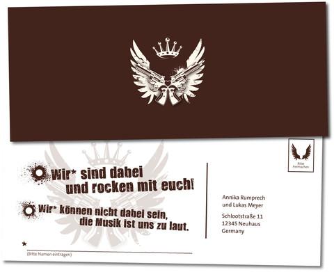 Witzige Einladungskarten Einladungskarte Rock N Roll