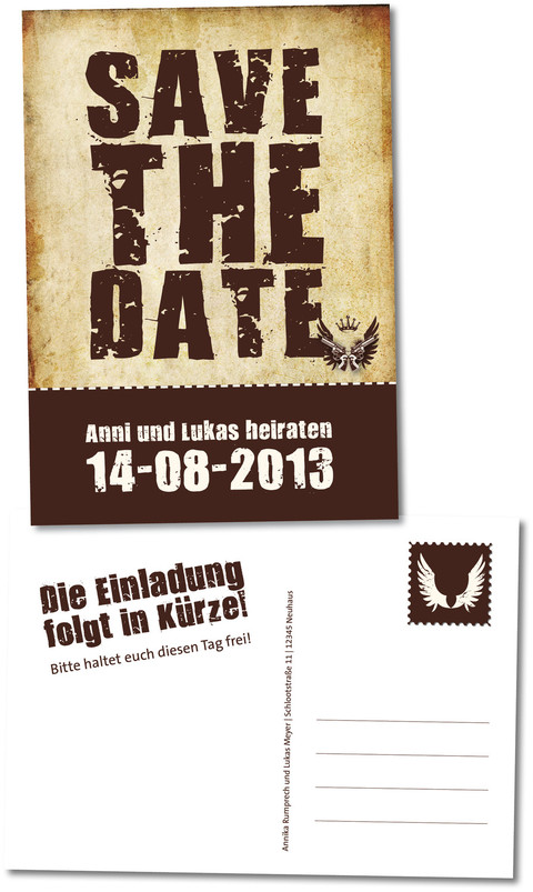 rock-n-roll save-the-date