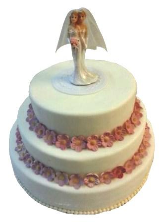 Rosa Torten Gradlinige Hochzeitstorte Mit Altrosa Zuckerblumen