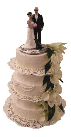 Weisse Torten Klassische Hochzeitstorte Mit Lilien