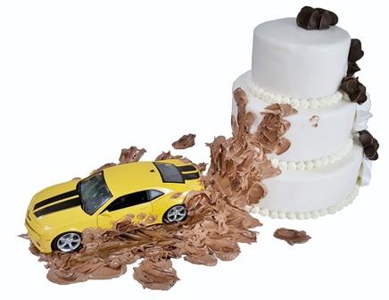 Weisse Torten Moderne Spielzeugauto Torte