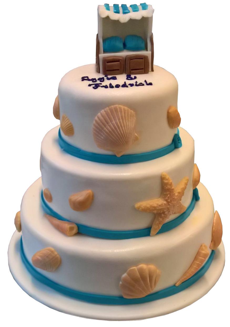 Blaue Torten Witzige Strandkorb Hochzeitstorte