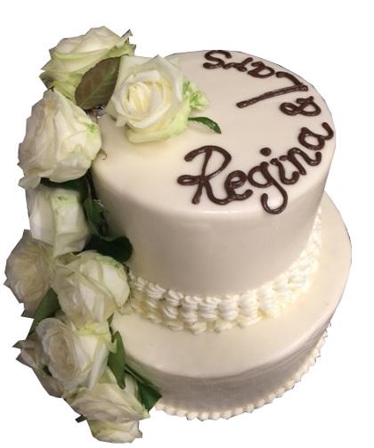 Klassische Hochzeitstorten Weisse Torte Mit Rosen