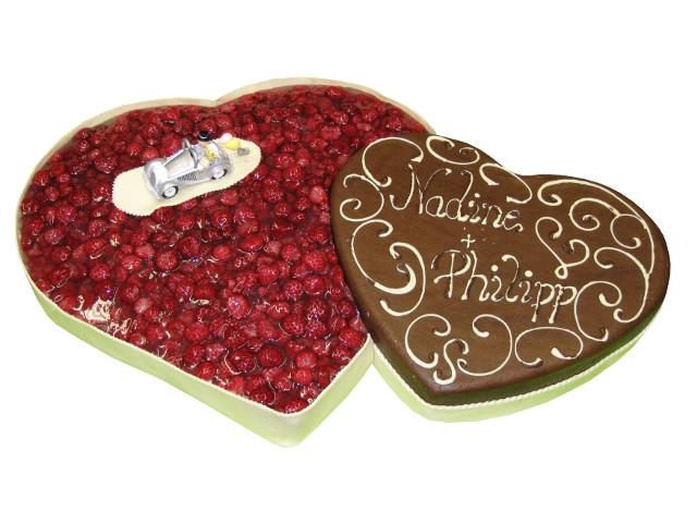 Herzige Torten Schoko Erdbeer Torte