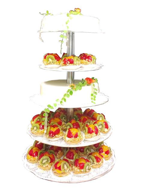 Obststorten Hochzeitstorte Mit Obsttortchen