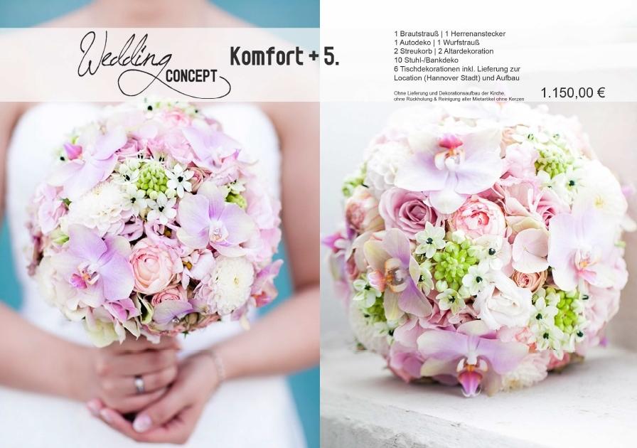 Hochzeitsfloristik : Hochzeitskonzept Komfort plus 5