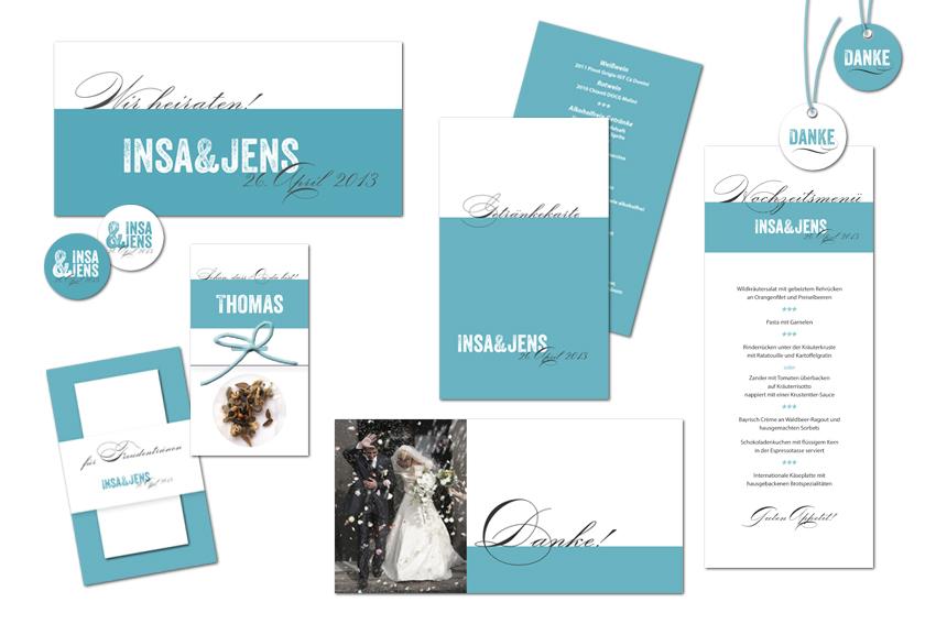 Individuelle Papeterie Moderne Hochzeitskarten Serie In Petrol Und