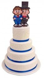 Blaue Torten