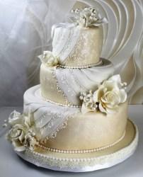 Weisse Cremeweisse Tortenkunst