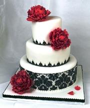 Schwarze Schokobraune Tortenkunst Topsy Turvy Cake In Weiss