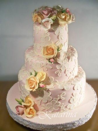 Vintage Tortenkunst Vintage Torte In Zartem Rose Mit